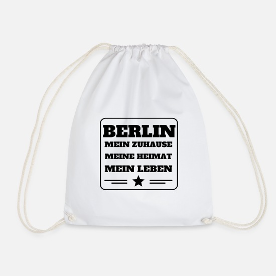 Friedrichshain Bags & Backpacks - Berlin - Drawstring Bag white