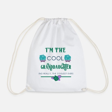 Granddaughter Granddaughter I'm the Cool Granddaughter - Drawstring Bag