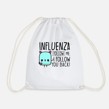 Influenza Influencer influenza - Drawstring Bag