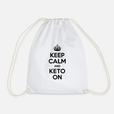 Keep Calm And Keto Sur Fitness Cétogène Diète - Sac à dos cordon