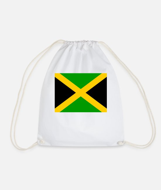 Country Sign Bags & Backpacks - I jm flag png black 531901dfe61ce470a4f2953b7ad949 - Drawstring Bag white