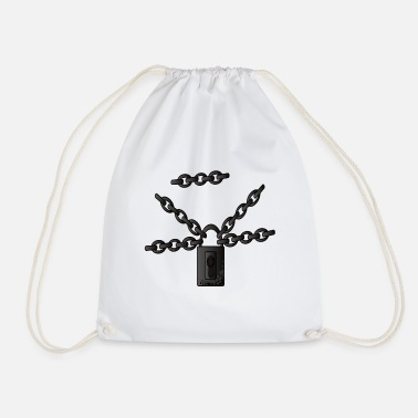 Chain Chains Chain links Steel chains Metal chains - Drawstring Bag