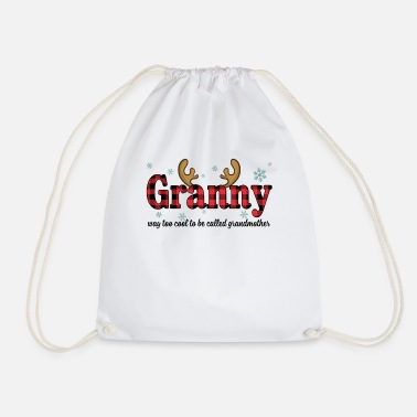 Pregnancy Granny Way Too Cool To Be Called Grandmother Funny - Drawstring Bag