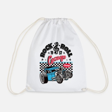 Rockabilly Rockabilly Vintage Car Rocker Rock N Roll - Gymnastiktaske