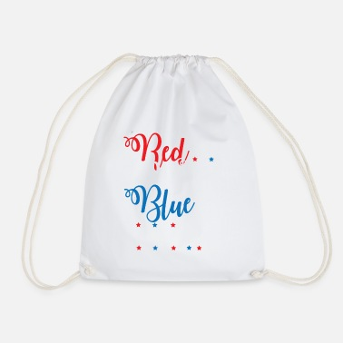 Alcohol Red White Blue Vodka Funny Fourth of July Apparel - Drawstring Bag