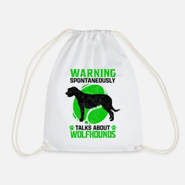 Rough Talks about Irish wolfhound greyhound saying - Drawstring Bag