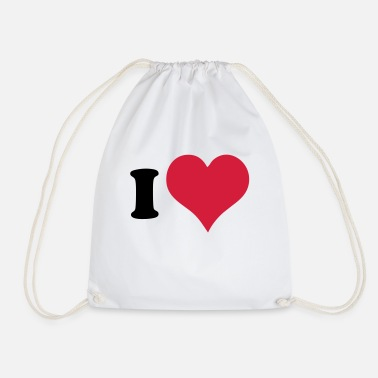 I Heart I Heart - Drawstring Bag