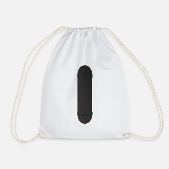 Sports Bags & Backpacks - Longboard - Drawstring Bag white