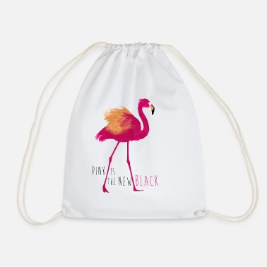 Animal Planet Flamingo Pink Is The New Black - Drawstring Bag