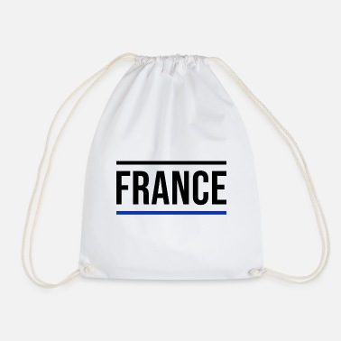 Blue France Europe Paris French Tour Eiffel - Drawstring Bag