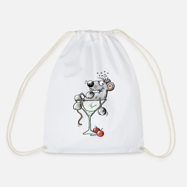 Coctail Funny Coctail Mouse - Drawstring Bag