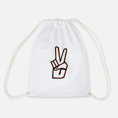 Asiti Peace sign - Drawstring Bag