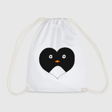 Heart Penguin - Drawstring Bag