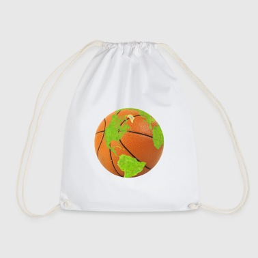 basketball earth planet globe erde globus - Turnbeutel