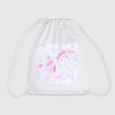 Pink Brush Stroke - Drawstring Bag