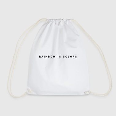 rainbow colors - Drawstring Bag