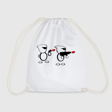 Trooper cartoon - Drawstring Bag
