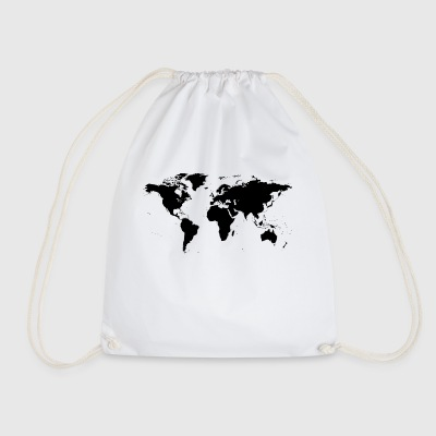 map of the world - Drawstring Bag