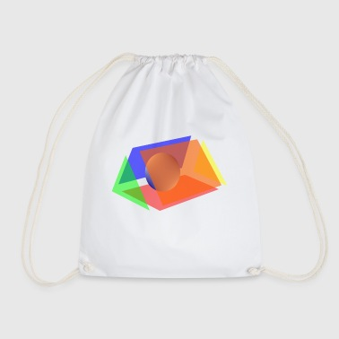 prism and sphere - Drawstring Bag