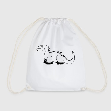 Dinosaur motif comic - Drawstring Bag