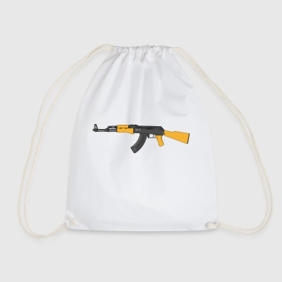 machine gun - Drawstring Bag