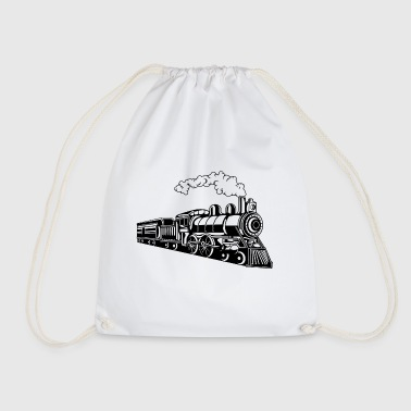 Locomotive / Locomotive 02_black - Drawstring Bag