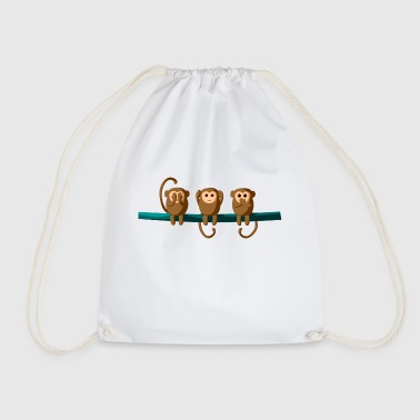 Do not see, do not hear, do not talk - Drawstring Bag