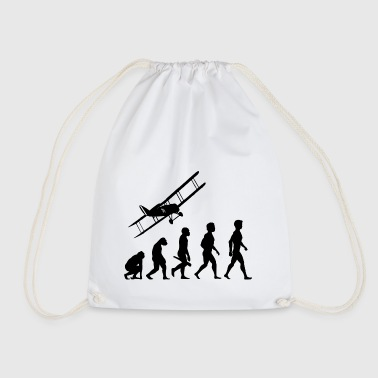 plane fliers fly evolution pilots cockpit - Drawstring Bag