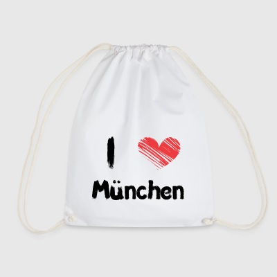I love Munich - Drawstring Bag