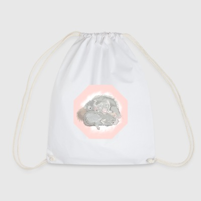 a snuggle of hamsters - Drawstring Bag