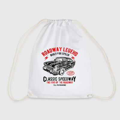 CLASSIC SPEEDWAY - Retro Car und Auto Shirt Motiv - Turnbeutel