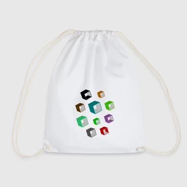 Cubes - Drawstring Bag