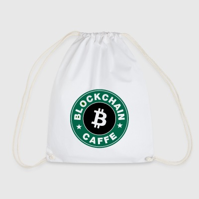 BlockChain Cafe Logo - Drawstring Bag