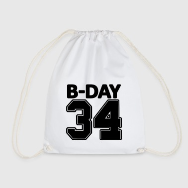 34 years old / 34th birthday number number jersey - Drawstring Bag