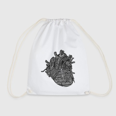 Heart organ | Design heart shirt - Drawstring Bag