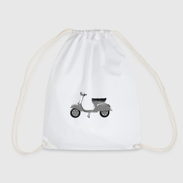 Classic scooter greys - Drawstring Bag
