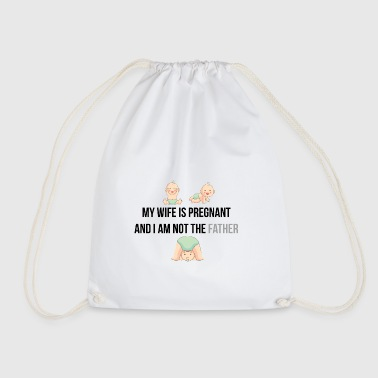 My wife is pregnant - Drawstring Bag