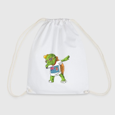 Fiji Dabbing turtle - Drawstring Bag