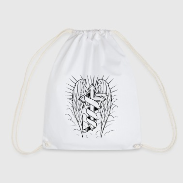 angel wings - Drawstring Bag