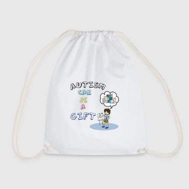 Autism: Autism can be a gift - Drawstring Bag