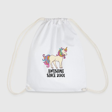 Awesome Since 2001 Unicorn Birthday Gift - Drawstring Bag
