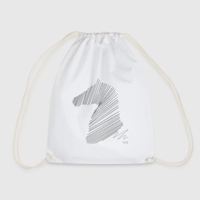 Design line horse sketch - Drawstring Bag