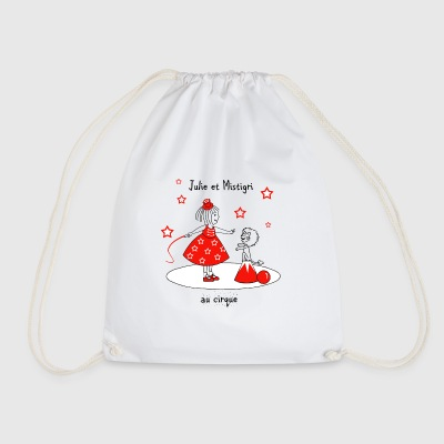 Julie and Mistigri at the Circus - Drawstring Bag