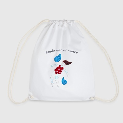Girl water rattles - Drawstring Bag