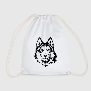 HUSKY PORTRAIT - Drawstring Bag