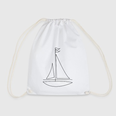 paddle boat sail boat rowing boat sailboat2 - Drawstring Bag