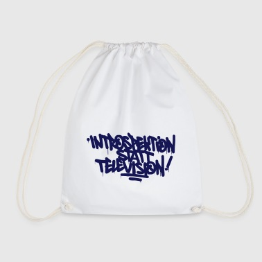 Introspection instead Television - Drawstring Bag