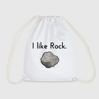 I like rock - Drawstring Bag