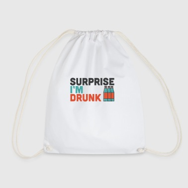 Surprise I'm Drunk Drinking Fourth Of July Gift - Drawstring Bag