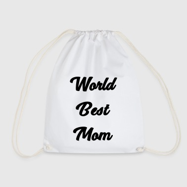 world best mom - Drawstring Bag
